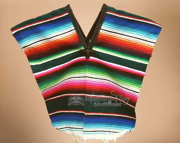 Child Size Mexican Serape Poncho