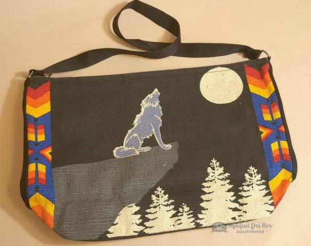 Southwestern Purse With Wolf Design