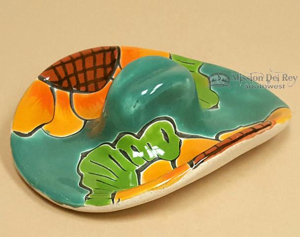Hand Painted Mexican Ceramic Sombrero -Talavera