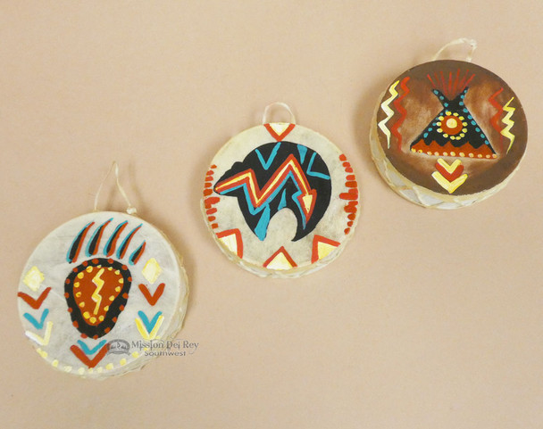 Hand Painted Drum Ornaments