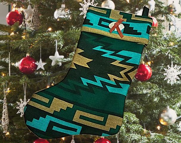 """Southwest Native Design Christmas Stocking 17"""""""