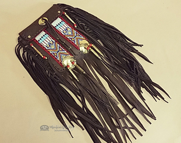 Native American Buffalo hide Medicine Bag -Tigua