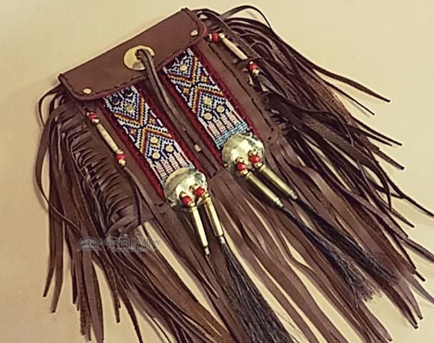 Native American elk hide Medicine Bag -Tigua