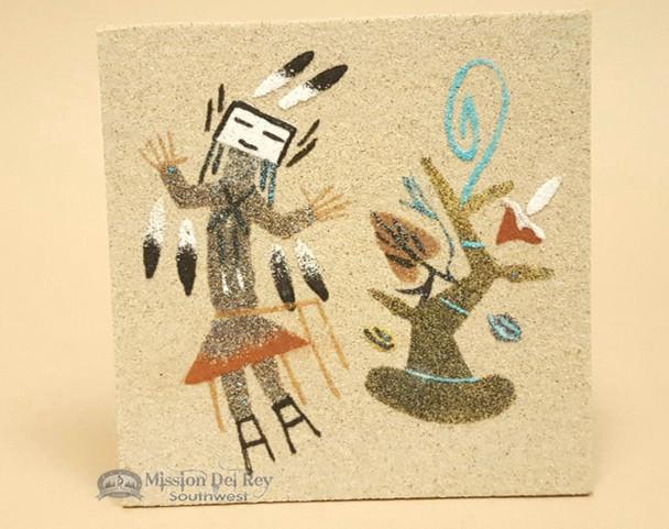 Unmounted Original Sand Painting -Navajo