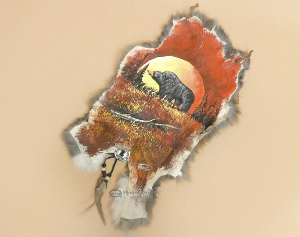 Southwestern Painted Rabbit Hide - Moonlit Bear
