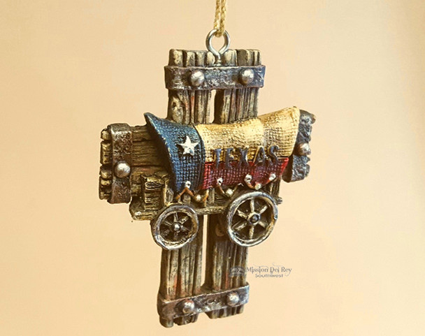 Western Style Christmas Ornament - Texas Wagon