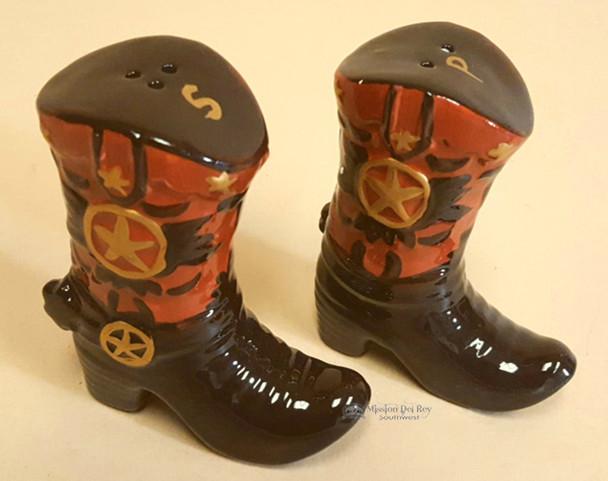 "Southwestern Salt & Pepper Shakers 5"" -Boots"