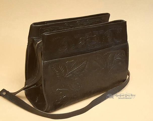 Western Tooled Leather Purse