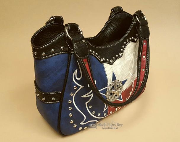 Western Messenger Purse -Texas Star