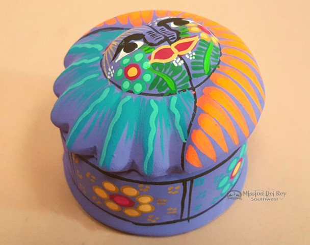 Hand Painted Southwestern Jewelry Box -Sun Face