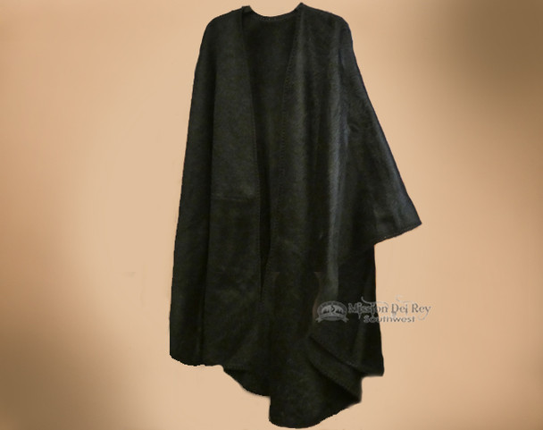 Long Southwest Alpaca Cape -Black