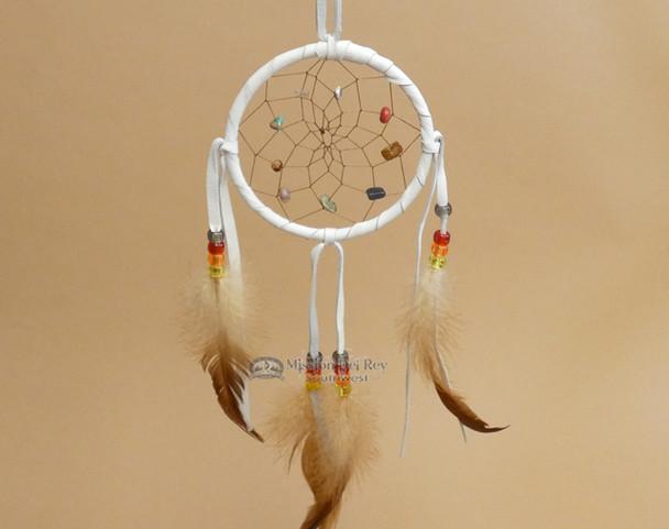 Native American Dream Catcher -White
