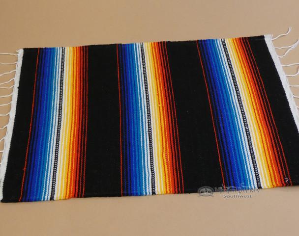 Southwestern Mexican Serape Placemat -Black