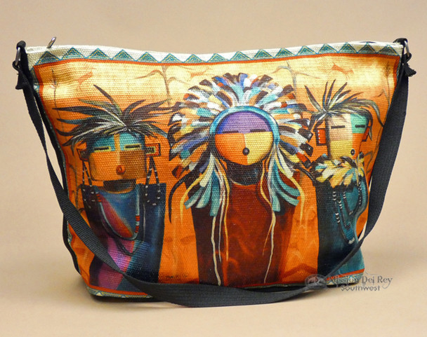 Southwest Native Art Purse -Sun Faces