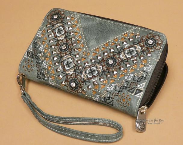 Woman's Southwestern Faux Leather Wallet