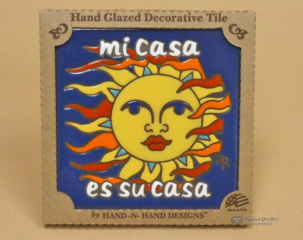 Southwestern Mexican Tile -Sun Face