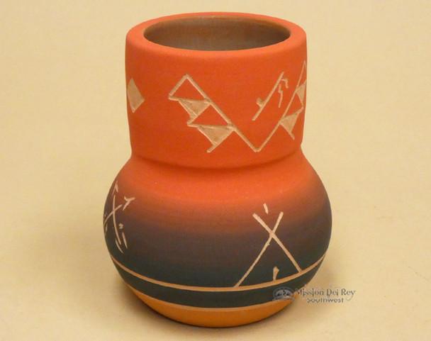 Lakota Sioux Red Clay Spirit Vase