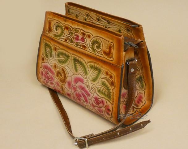 Southwestern Hand Tooled Leather Purse