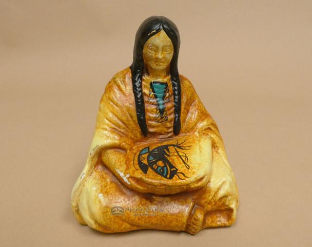 "Ceramic Sitting Woman Figurine 5"" (sp647)"