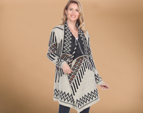 Southwestern Ladies Cardigan Sweater - Large