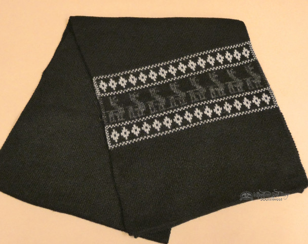 Soft Alpaca Scarf - Black