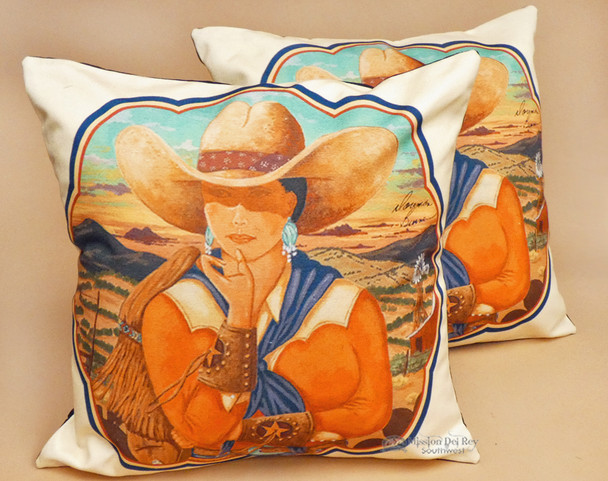 Pair of Western Cowgirl Pillow Covers - Dallas