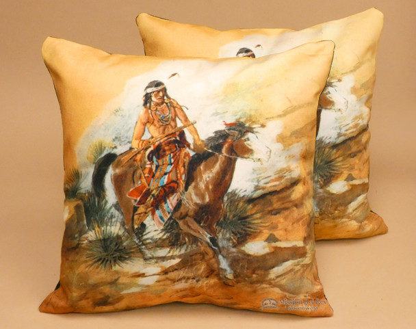Pair of Native American Indian Themed Pillow Covers