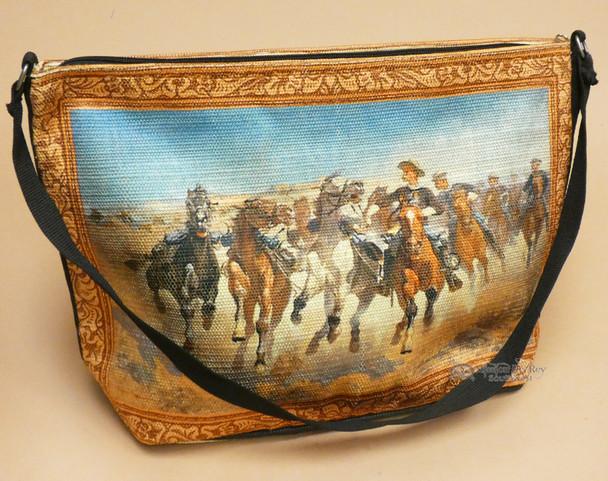 Western Cowboy Art Purse -Cattle Drive