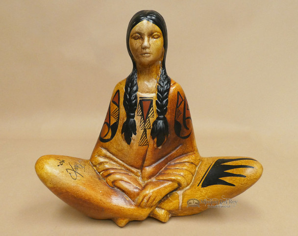 Hand Painted Mexican Pottery Woman