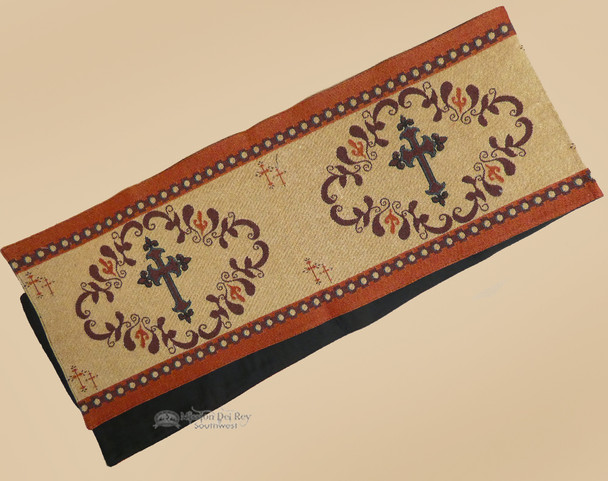 Western Cross Tapestry Woven Table Runner