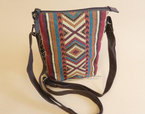 Western Style Woven Crossbody Bag - West Rio