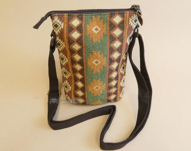 Rustic Woven Crossbody Bag - Adobe