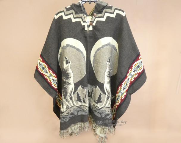 Blanket Poncho -Wolf