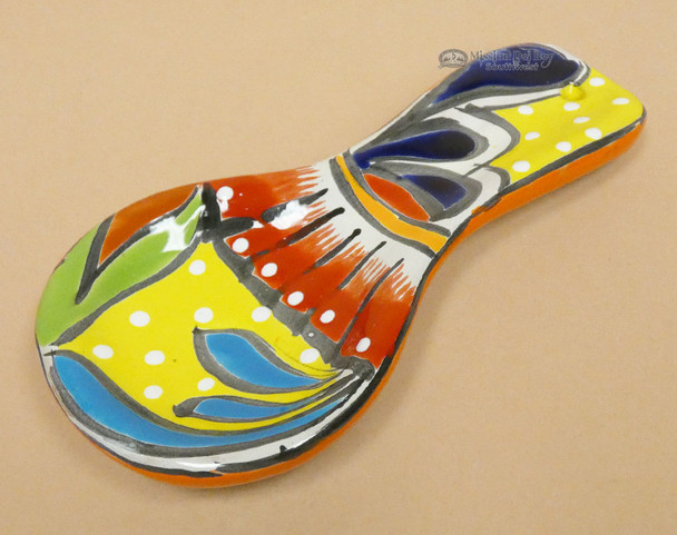 Hand Painted Ceramic Spoon Rest