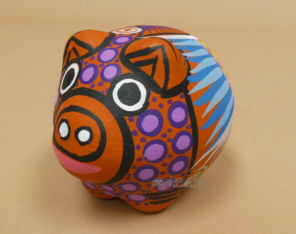 Hand Painted Mexican Clay Pig