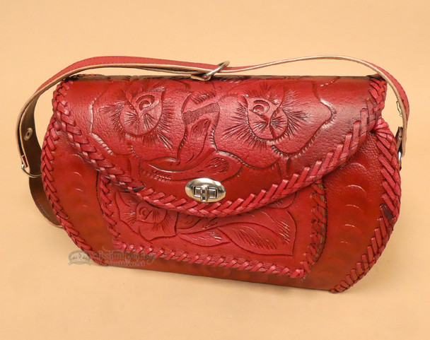 Western Hand Tooled Leather Purse