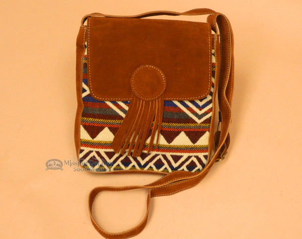 Southwestern Purse featuring an adjustable strap