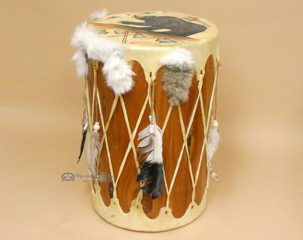 Hand Painted Tarahumara Indian Drum - Bear