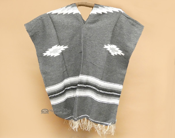 Mexican Style Poncho - Charcoal