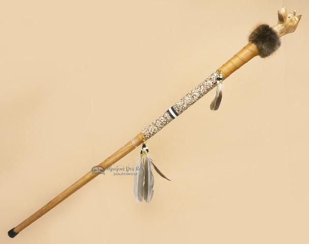 Native American Creek Indian Walking Stick  - Wolf