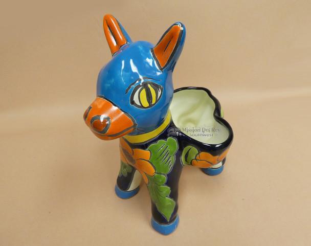 Mexican Talavera Pottery Planter Donkey