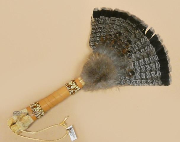 Deer Bone Handled Fan