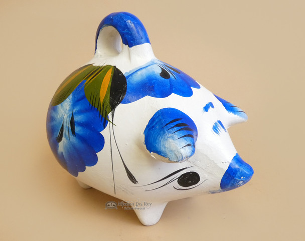 Painted Clay Piggy Bank