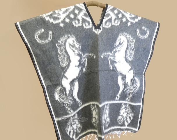 Soft Blanket Poncho - Grey