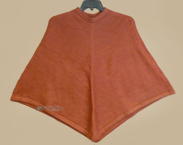 100% Alpaca Poncho - Red