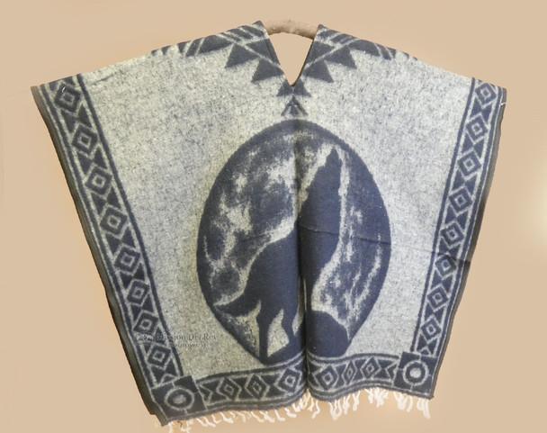 Blanket Poncho - Grey Wolf