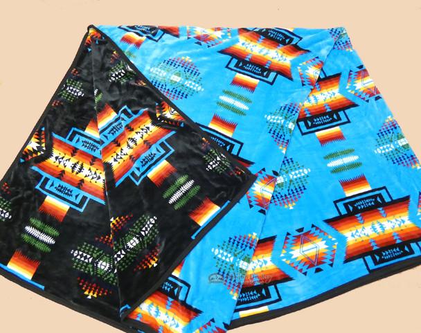 Super Plush Heavy Velvet Fleece Blanket - Blue