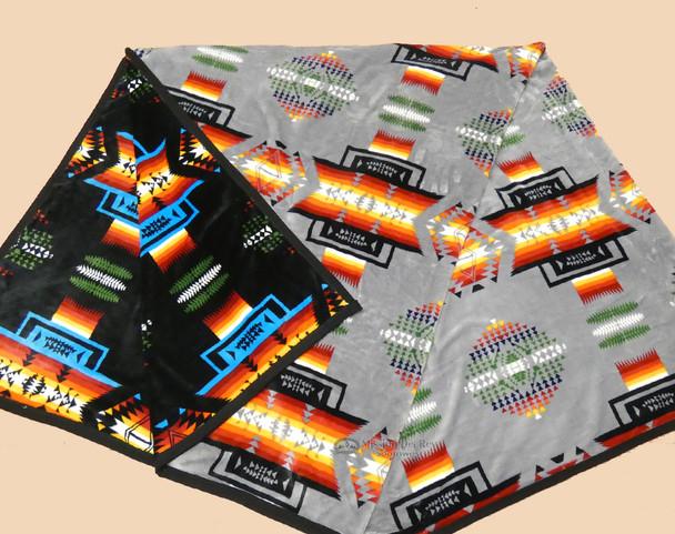 Super Plush Heavy Velvet Fleece Blanket - Grey