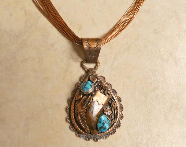 """Navajo Copper Beaded Necklace 18"""""""