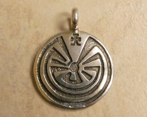"Sterling Silver Navajo ""Man in the Maze"" Pendant"